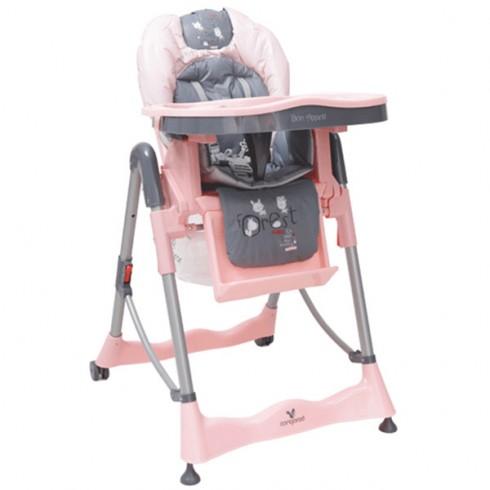 Scaun de masa Cangaroo Bon Apetit roz