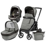 Carucior Peg Perego Black Mat Team 3 in 1 atmosphere