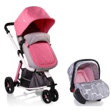 Carucior Cangaroo Sarah 2 in 1 grey and pink