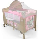 Patut pliabil cu 2 nivele Milly Mally Mirage Deluxe pink toys