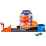 Pista de masini Hot Wheels by Mattel City Spin Dealership cu 1 masinuta {WWWWWproduct_manufacturerWWWWW}ZZZZZ]