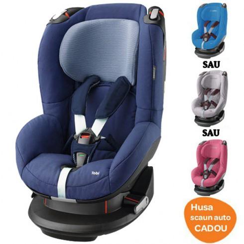Scaun auto Maxi Cosi Tobi river blue cu husa de vara