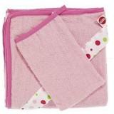 Set Prosop cu manusa Nino pink