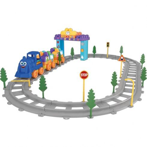 Pista trenulet Ucar Toys Magic Blocks 62 piese