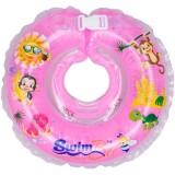 Colac de gat Kidcity SwimBee pentru bebelusi Roz