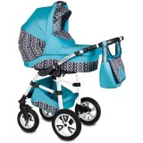 Carucior Vessanti Flamingo Easy Drive 3 in 1 turquoise
