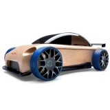 Masinuta din lemn Automoblox Mini S9-R Sport Sedan