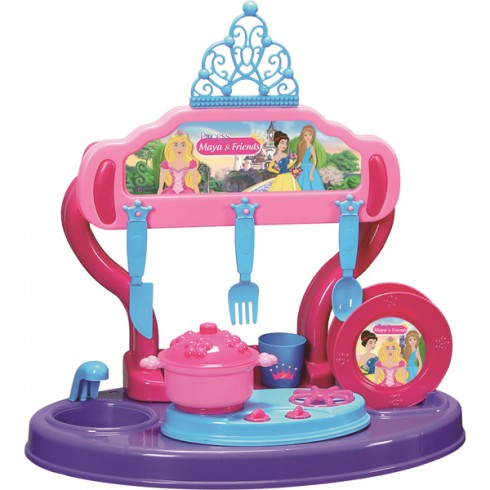 Bucatarie Ucar Toys Princess Maya and Friends 15 piese