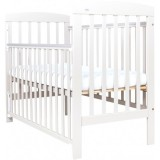 Patut copii din lemn Drewex Olek 120x60 cm white