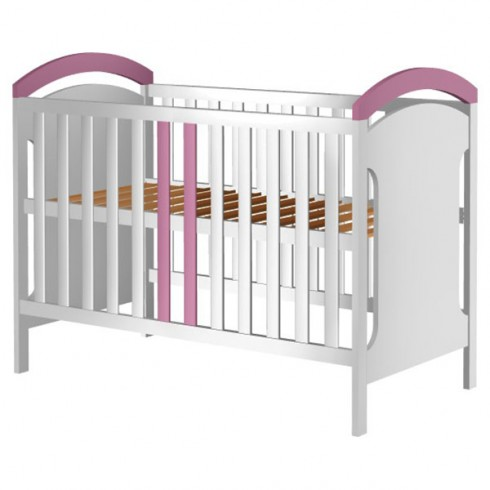 Patut copii din lemn Hubners Hansell 120x60 cm alb-roz {WWWWWproduct_manufacturerWWWWW}ZZZZZ]