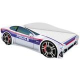 Patut MyKids Car Police 160x80 cu Saltea