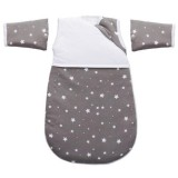 Sac de dormit Fillikid 55 cm cu maneca star grey