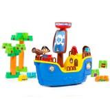 Set Molto 30 piese de constructie Corabia Piratilor