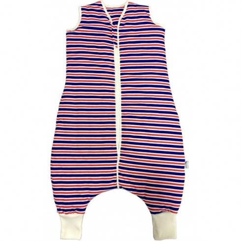 Sac de dormit Slumbersac Navy Red Stripes 5-6 ani 1.0 Tog
