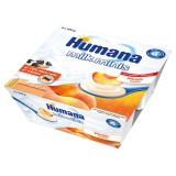 Iaurt Humana cu gust de piersici de la 6 luni 4x100 g