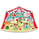 Puzzle din lemn New Classic Toys Labirint La Circ