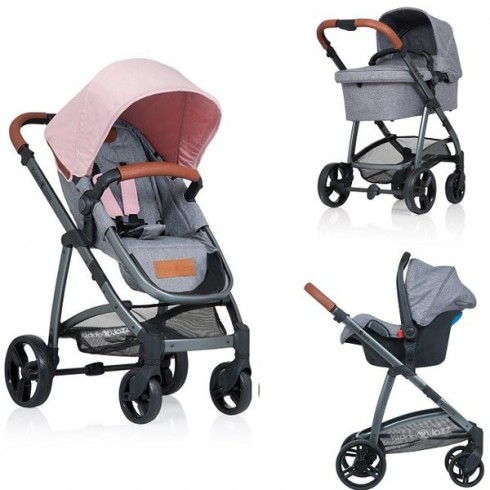 Carucior Kiddo Jazz Deluxe 3 in 1 rose