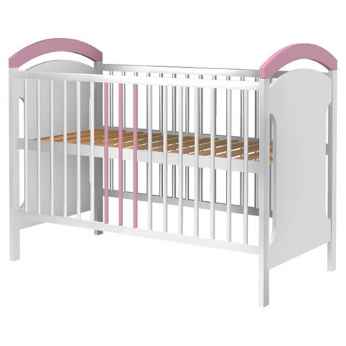 Patut copii din lemn Hubners Anita 120x60 cm alb-roz {WWWWWproduct_manufacturerWWWWW}ZZZZZ]