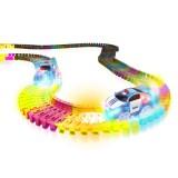 Pista circuit flexibila Mindscope Neon Glow cu Masina de politie