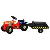 Tractor Super Plastic Toys Hard Truck cu remorca red