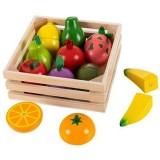 Set de fructe cu magnet Ecotoys