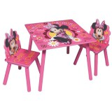 Set masuta si scaunele Global Minnie Mouse Simply Charming