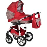 Carucior Vessanti Flamingo Easy Drive 3 in 1 red