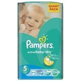 Scutece Pampers active baby-dry 5 junior giant pack 64 buc pentru 11-18 kg