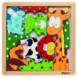 Puzzle Playshoes Animale din lemn