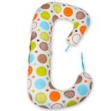 Perna de alaptat BabyNeeds Soft Plus 3 in 1 cerculete colorate