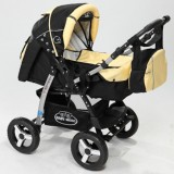Carucior Baby Merc Junior 2 in 1 black yellow