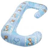 Perna de alaptat BabyNeeds Soft 3 in 1 ursuleti albastri
