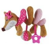 Spirala cu jucarii Baby Mix Sly Fox pink
