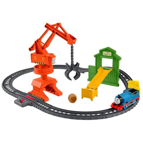 Set Fisher Price by Mattel Thomas and Friends Cassia Crane and Cargo sina cu locomotiva motorizata si vagon {WWWWWproduct_manufacturerWWWWW}ZZZZZ]