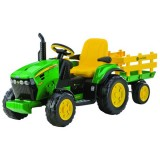 Tractor Peg Perego JD Ground Force cu remorca