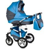 Carucior Vessanti Flamingo Easy Drive 3 in 1 blue