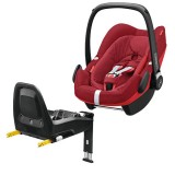Pachet Scaun auto Maxi Cosi Pebble Plus I-Size robin red cu baza auto 2wayFix