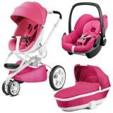Carucior Quinny Moodd 3 in 1 pink passion