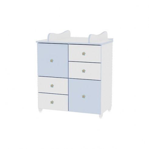 Comoda de infasat Bertoni - Lorelli white & blue