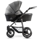 Carucior Venicci 3 in 1 Carbo Denim Grey cu baza Isofix