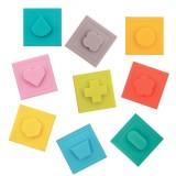 Set 9 cuburi Ludi Primul joc de construit al bebelusului