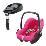 Pachet Scaun auto Maxi Cosi Pebble berry pink cu baza auto Familyfix