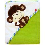 Prosop cu gluga Bobobaby 76x76 cm maimuta verde