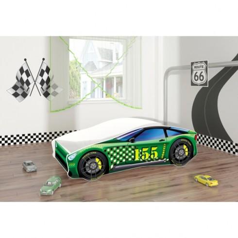Patut tineret MyKids Race Car 04 Green 160x80