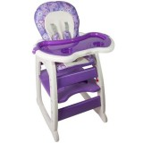 Scaun de masa Kidcity Baby Place Mamakids multifunctional mov cu fluture
