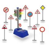 Set Dickie Toys Semafor City Traffic cu semne rutiere