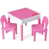Set Masuta cu 2 scaune Tega Lego roz