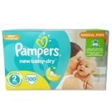 Scutece Pampers new baby-dry 2 mini giant pack 100 buc pentru 3-6 kg