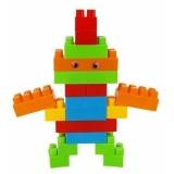 Blocuri de constructie Lean toys 86 piese