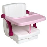 Scaun de masa inaltator Kids Kit white tender rose silver